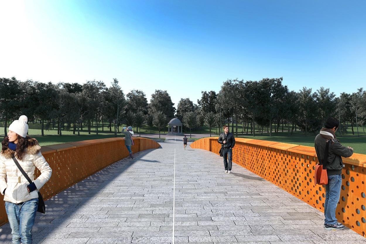 Comma Architects Irish War Memorial Gardens Bridge Competition 2019 (5)